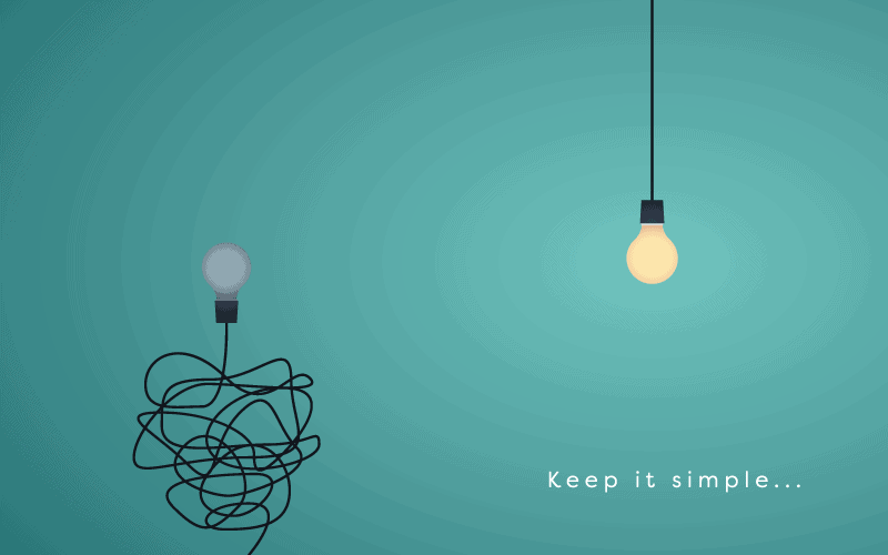 simple wire and light bulb as metaphor for small business coaching services