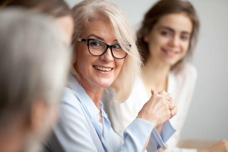woman coaching smiling