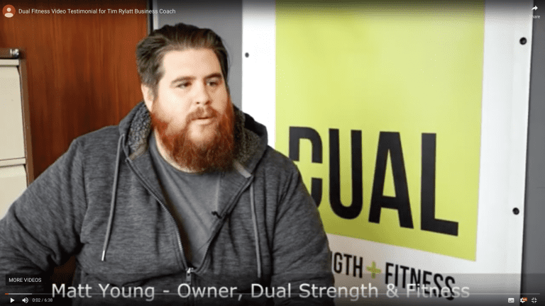 Matt Young, discussing his success with Growth Coach
