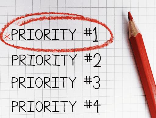 Prioritisation is part of overcoming procrastination